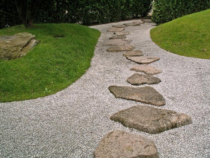 Architecte paysagiste l am nagement paysager court saint etienne bruxelles - Gartengestaltung mit splitt ...